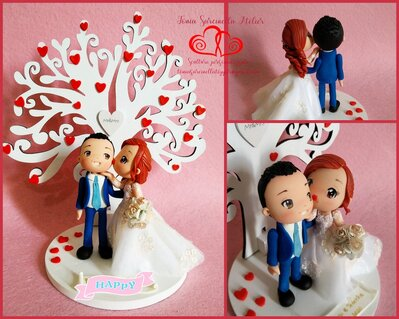 Cake topper sposi cartoon personalizzati