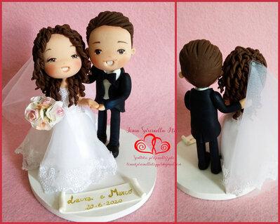 Cake topper sposi personalizzato cartoon