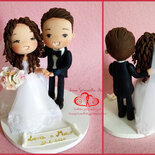Cake topper sposi personalizzato cartoon