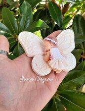 Bomboniera battesimo bebè con farfalla