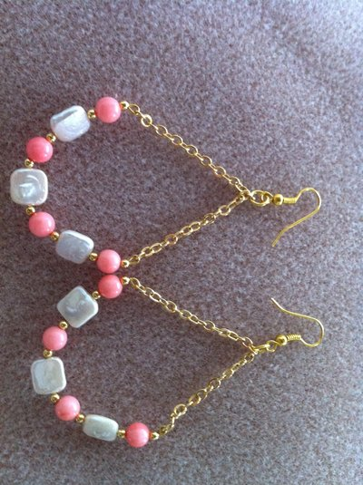 orecchini rosa preziosa- precious rose earrings
