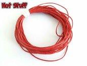 1 mt - Cordino Cotone cerato - Rosso (1mm)