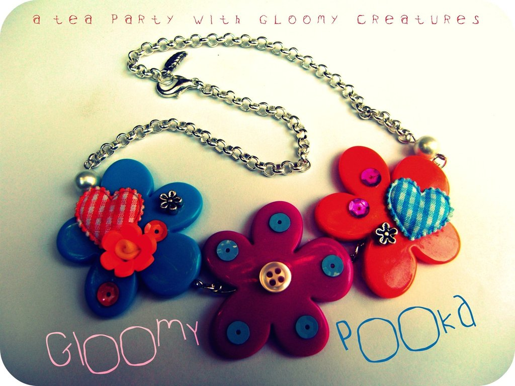[ Dried Flowers Necklace ]