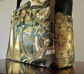 Borsa a spalla Super-Comoda&Elegante! di Obi /Kimono Seta100% Misura PC