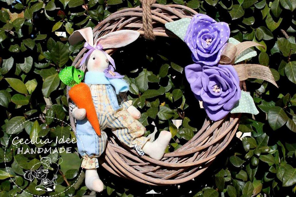 Ghirlanda con coniglietto