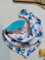 bavaglino a bandana Stitch azzurro