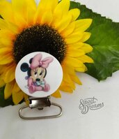 Clip in resina *Baby Minnie tonda*
