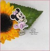 Clip in resina *Baby Minnie con ciuccio*