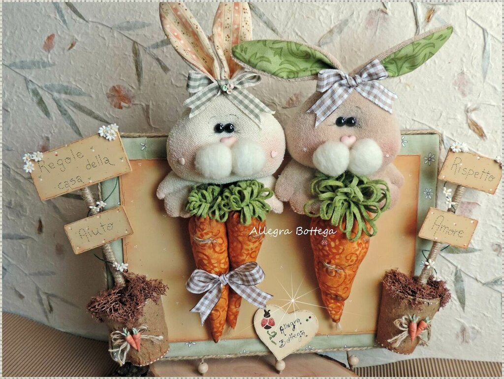 Cartamodello coniglietti ciuffini, le regole della casa