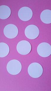 100 cerchi in cartoncino 2.5cm