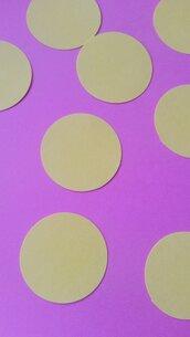 100 cerchi in cartoncino 3.8cm