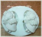 Multi stampo 2 angeli con cuore in silicone