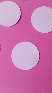 100 cerchi in cartoncino 4.4 cm