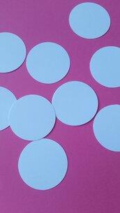 100 cerchi in cartoncino 5,08 cm