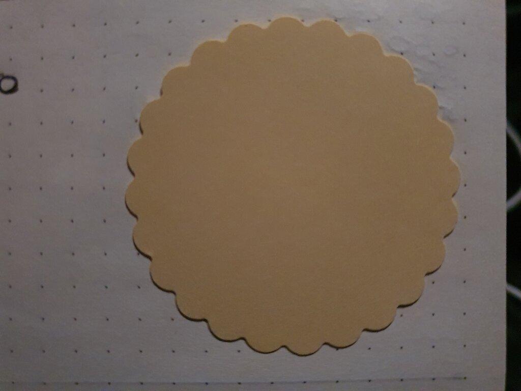 100 cerchi smerlati in cartoncino 3,8cm