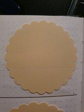 100 cerchi smerlati in cartoncino 5,08 cm