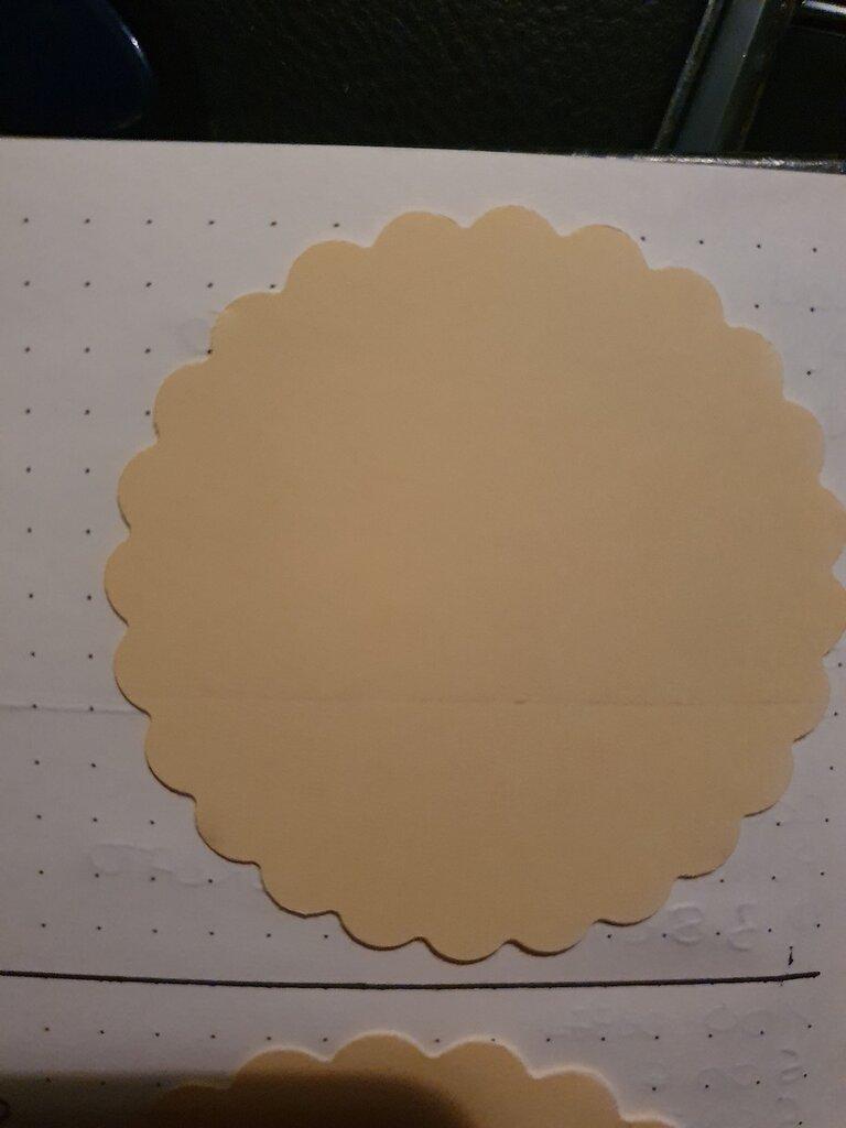 50 cerchi smerlati in cartoncino 6,35cm
