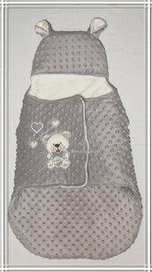 Baby sacco nascita/sacco nanna minky dots/sacco nanna peluche/ baby sacco hand made/baby sacco 0-6 mesi