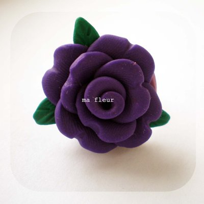 PURPLE ROSE ring