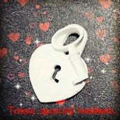Lucchetto a forma di cuore con chiave in polvere di ceramica
