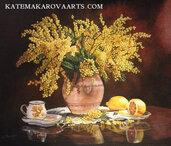 Dipinto in acrilico su tela  Mimosa