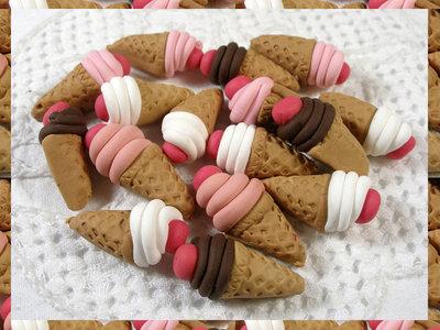 16 gelati in fimo