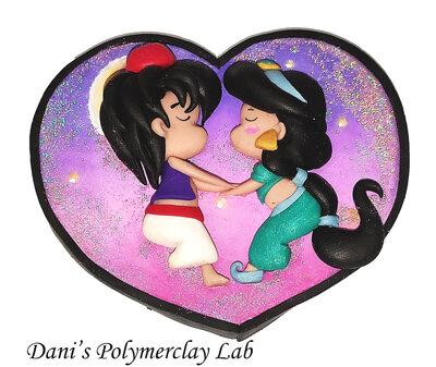Cuoricino Alladin e Jasmine