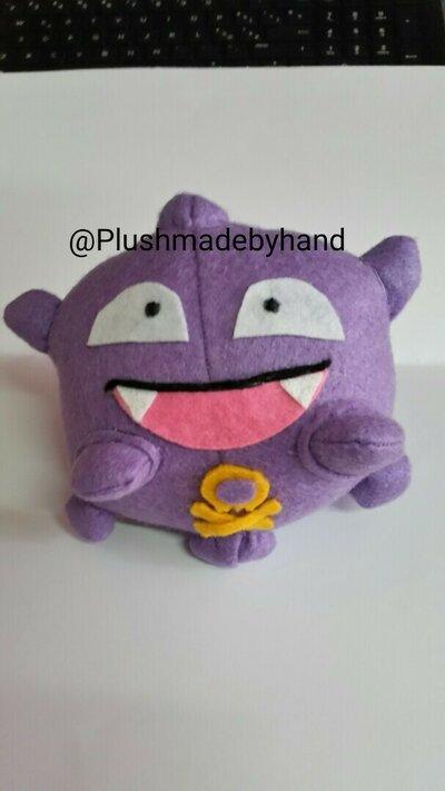 Peluche ispirato a Koffing- Pokémon -  viola