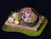 GALLINA E PULCINI - sassi dipinti - collezionismo - animali