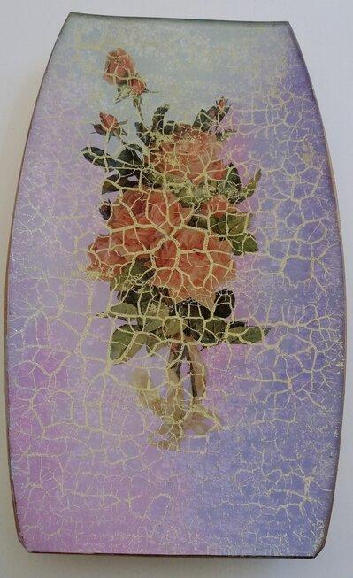Vassoio svuotatasche in vetro découpage artigianale, porta cioccolatini, casa, regalo, 8 marzo, festa della mamma, amica, Natale, festa donna