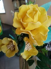 Rosa gialla seta