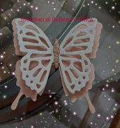 Farfalla feltro e crepla