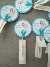 Toppers topper cupcake pick stuzzicadenti frozen Elsa