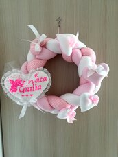 coccarda nascita fiocco nascita femminuccia rosa