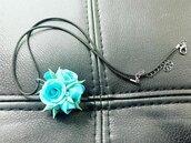 Ciondolo Rose Azzurre