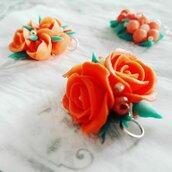 Ciondolo Rose Arancioni