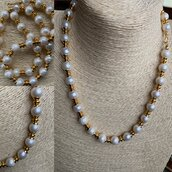 Collana di Perle e Oro