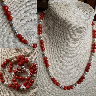 Collana i Corallo e Perle