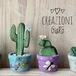 Cactus mini in legno