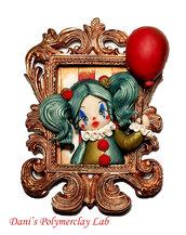 Quadretto Clown e palloncino rosso