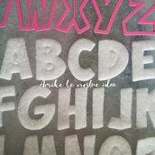 Fustellati lettere alfabeto in gomma crepla o feltro