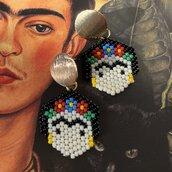 Orecchini di perline Frida Kahlo