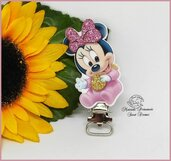 Clip Baby Minnie con particolari glitter