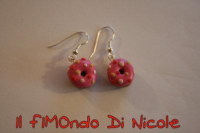 Orecchini Ciambelle - Donuts Earrings - Fimo