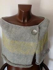 Poncho, poncho donna, coprispalle, fatto a mano , mantella, maglia , poncho grigio