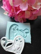 Stampo cuore icona prima comunione gomma siliconica