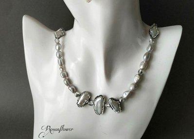 Collana di perle elegante, collana di perle barocche naturali, regali per anniversario, regalo mamma