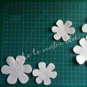 Fustellati fiori in gomma crepla o feltro