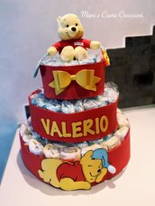 Torta Pannolini Winnie the Pooh 106 Pannolini