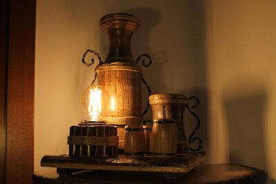 La Locanda - lampada in legno